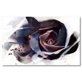 Αφίσα (τριαντάφυλλο, τέχνη, μαύρο, λευκό, άσπρο)